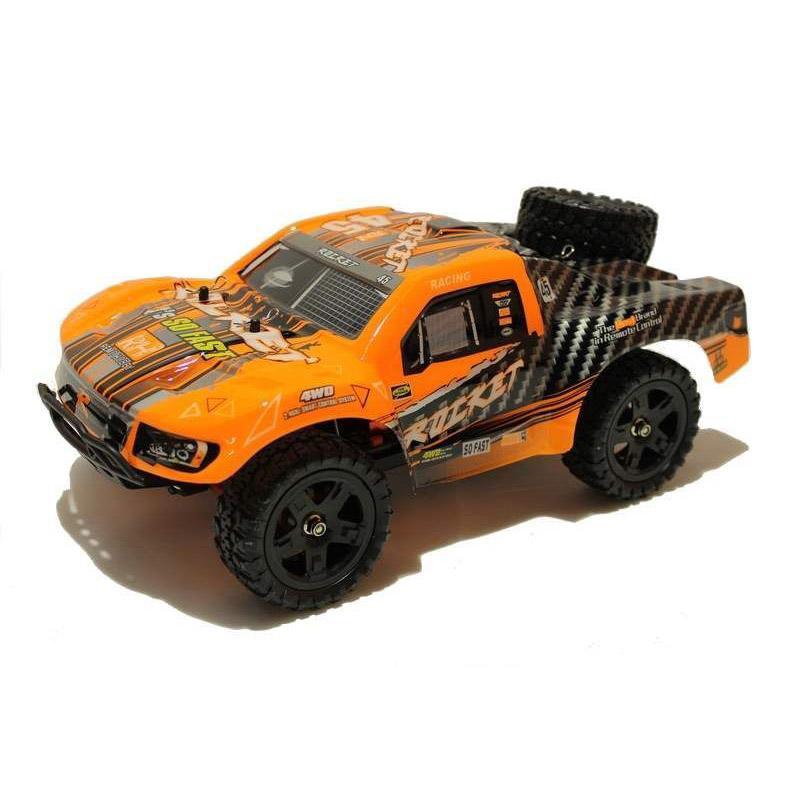 Купить Радиоуправляемый шорт-корс Remo Hobby Rocket UPGRADE 4WD 2.4G 1/16 RTR-RH1621UPG (Оранжевый)