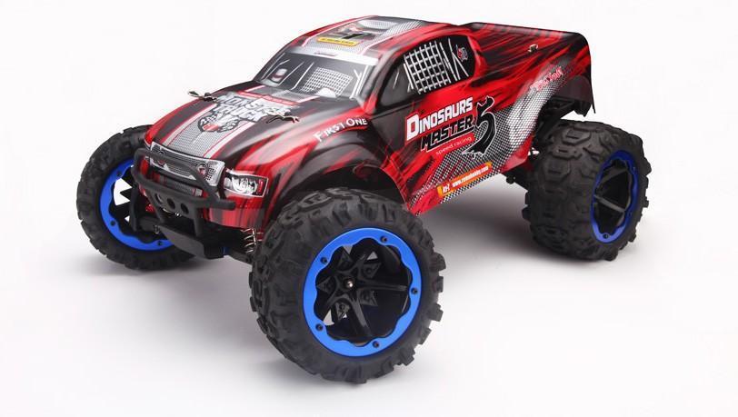 Радиоуправляемый монстр Remo Hobby Dinosaurs Master TWINS MOTOR 4WD RTR масштаб 1:8 2.4G - RH8032-RED  - купить со скидкой