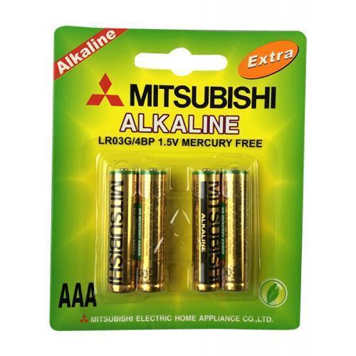 Купить Батарейки MITSUBISHI AAA LR03G Alkaline - LR-03-M 4 шт. (Базовый)