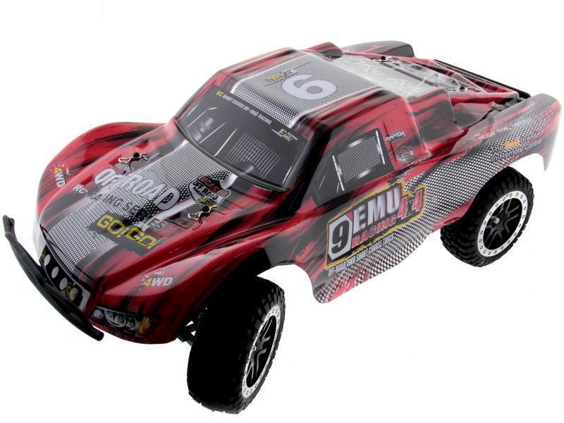 Купить Радиоуправляемый шорт-корс трак Remo Hobby Truck 9emu 4WD RTR масштаб 1:10 2.4G - RH1021 (Красный), Внедорожник