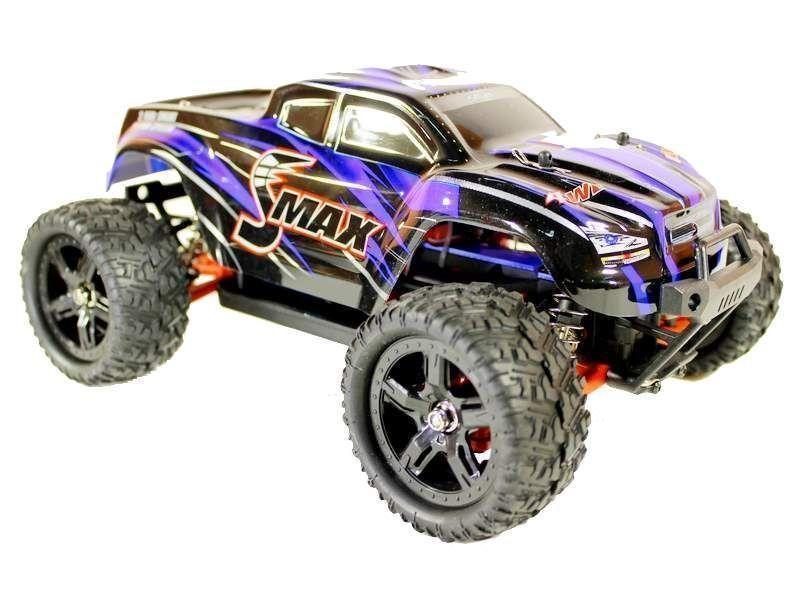 Купить Радиоуправляемый монстр Remo Hobby SMAX Brushless UPGRADE 4WD 2.4G 1/16 RTR-RH1635UPG (Синий)